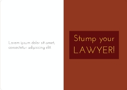 Stump Your Lawyer!